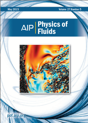 Cover of Physics of Fluids, 2015